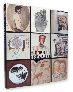 the cover of the Hidden Treasure book featuring 9 historic medical images