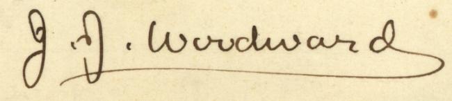 Signature of J. J. Woodward