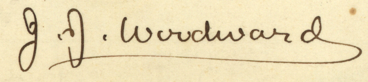 Signature of J. J. Woodward