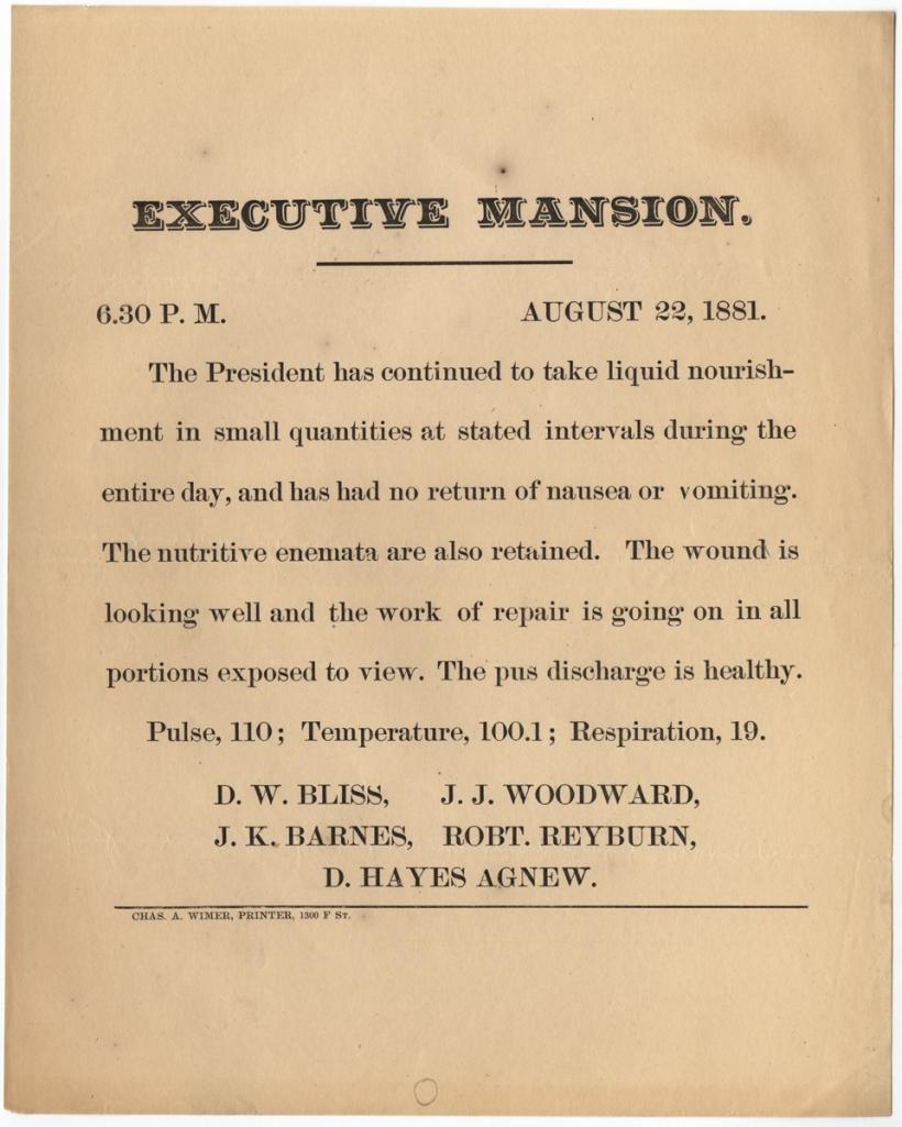 Printed Bulletin 08-22-1881