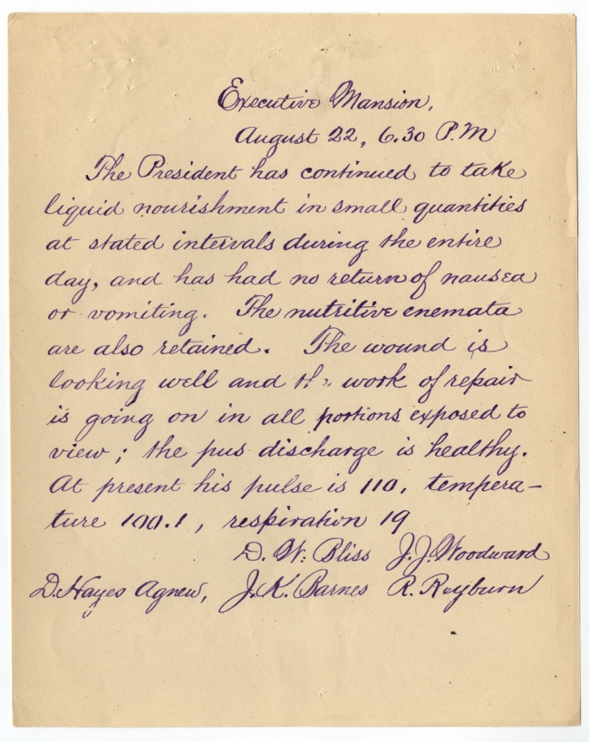 Manuscript bulletin 08-22-1881