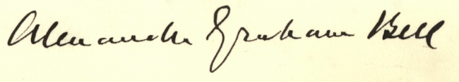 signature of Alexander Graham Bell