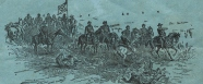 illustration of foot soldiers and cavelry from the civil war