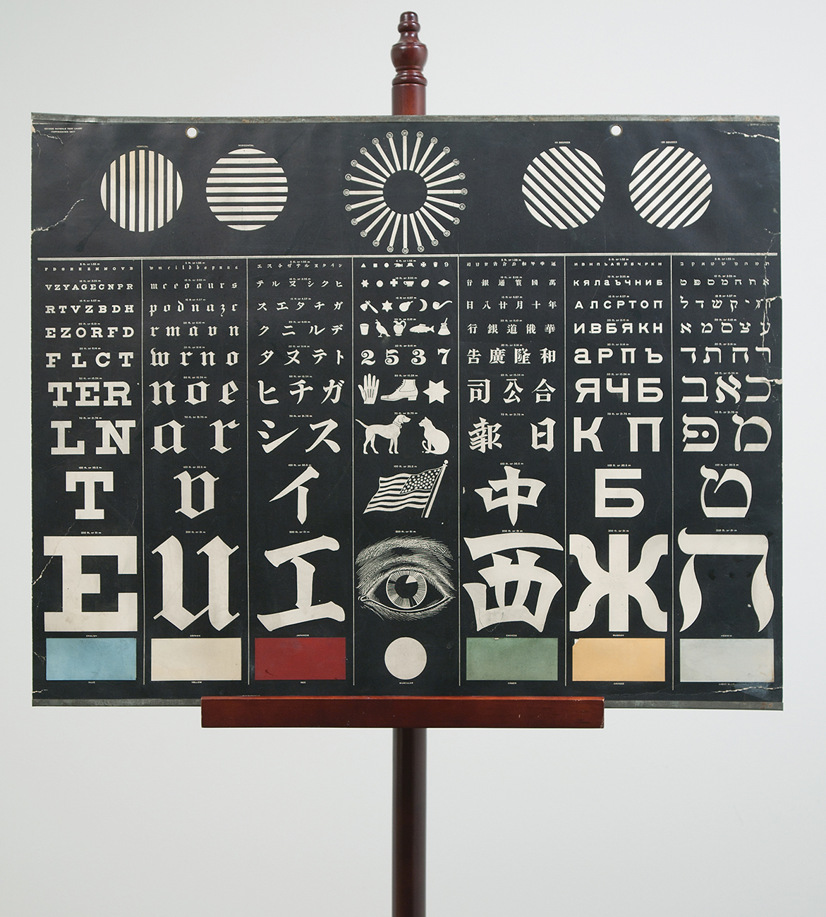 Seeing is believing circulating now from nlm multilingual eye chart with 7 panels nvjuhfo Gallery