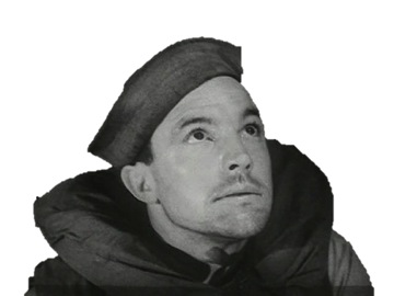Gene Kelly in a flotation vest and seaman's hat.