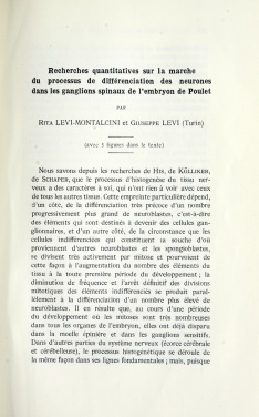 Title page of a printed article in a journal, in French.
