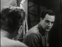 Gene Kelly as Seaman Bob Lucas, upset, talking to the miltary psychiatrist.