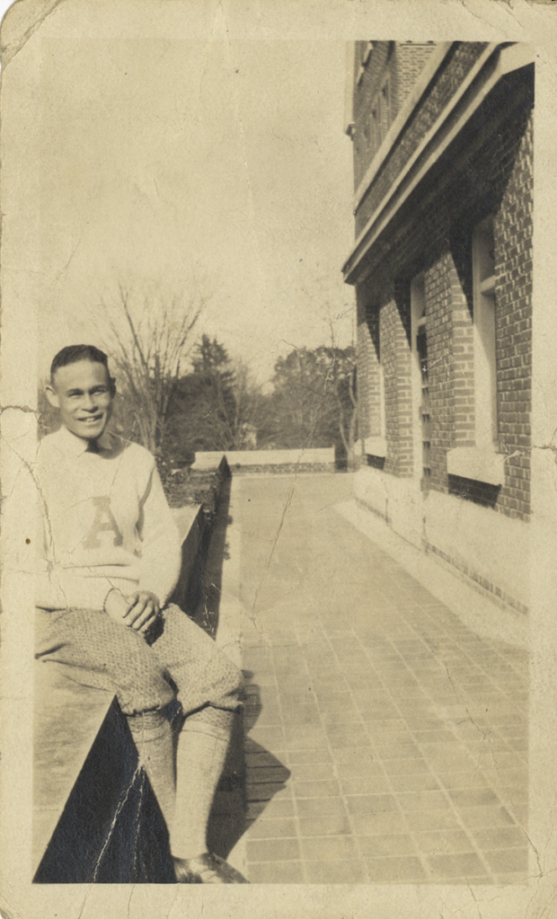 Charles Drew as student at Amherst College