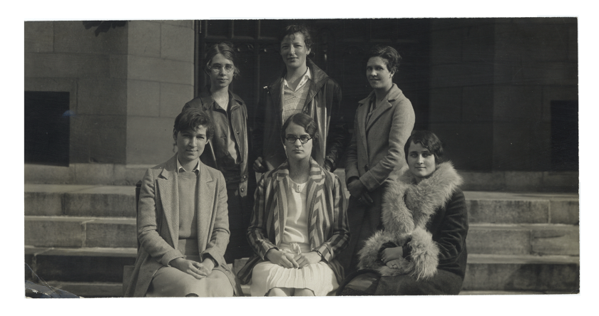 Apgar (front left) with other members of the orchestra at Mount Holyoke College