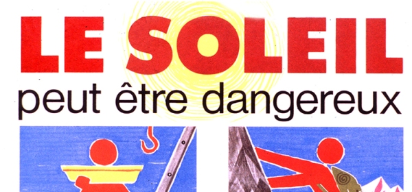 French poster warning of danger to sun exposure.