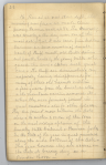 Page of diary handwritten in pencil headed by the date October 16.