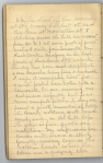 Page of diary handwritten in pencil headed by the date October 24.