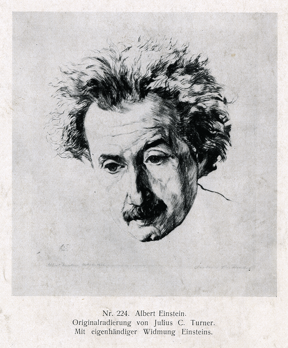 einstein the shy genius circulating now a halftone reproduction of an etching of einstein