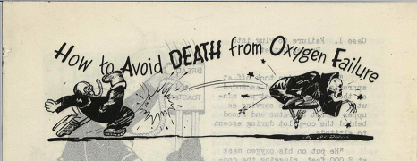 Document headed by a cartoon of a man in a breathing mask kicking a black robed skeleton.