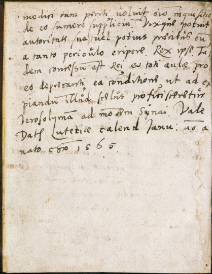 Page two of a manuscript letter in Latin.