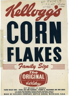 Promotional image for Kellog's Corn Flakes.