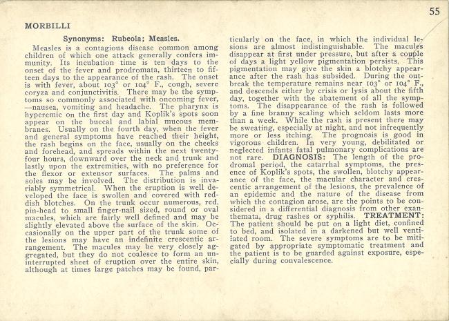 Descriptive text about Measles