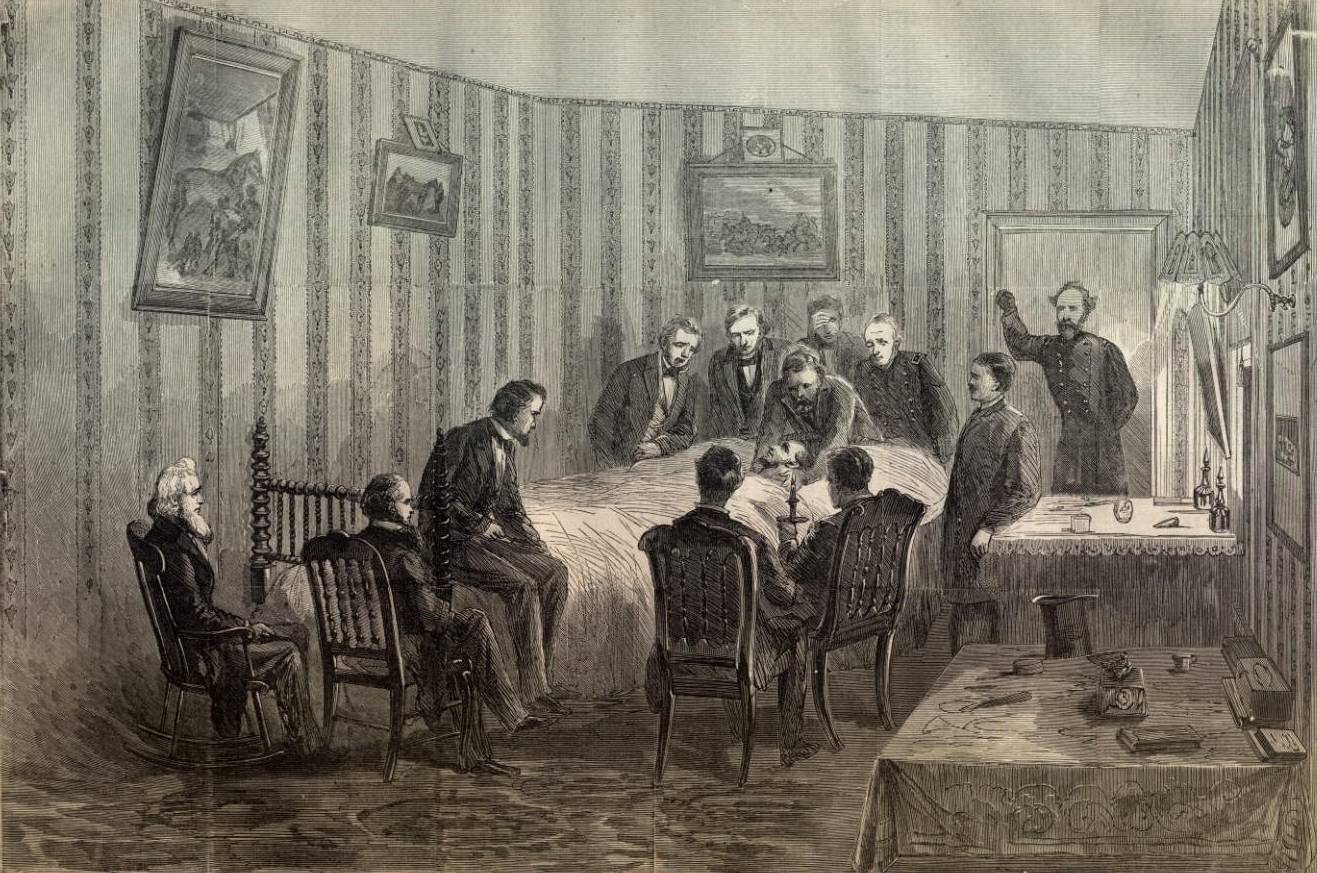 Lincoln's Death in Peterson House, Harpers Weekly ...