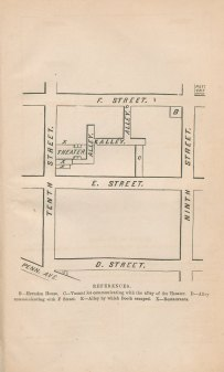 Diagram of the streets surrounding Ford's Theate