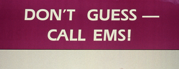 Public health poster advertising the Utah EMS service