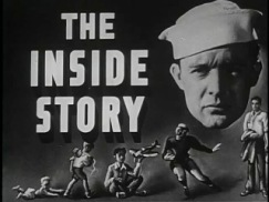 Title frame from The Iside Story, featuring a sailors face and depictions of him from various stages of childhood.