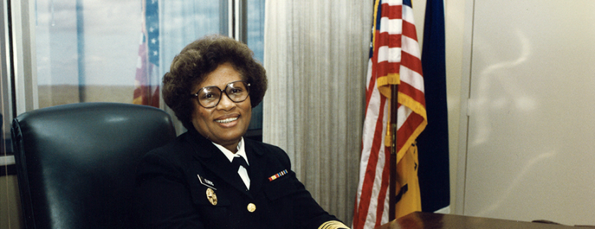 Surgeon General Joycelyn Elders at her desk.