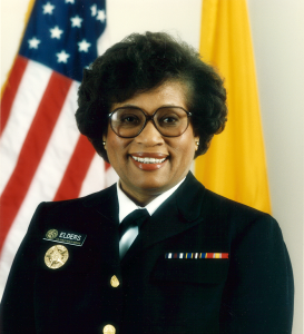 Surgeon General Joycelyn Elders in uniform.