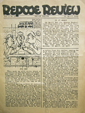 The Front page of the Repose Review from April 13, 1946