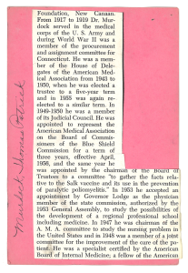 A newspaper clipping pasted to a pink index card.