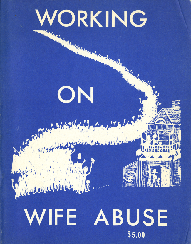 Cover of the pamphlet Working on Wife Abuse.