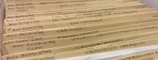 Archival file folders.