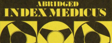 Detail from a brochure advertising the Abridged index medicus service.