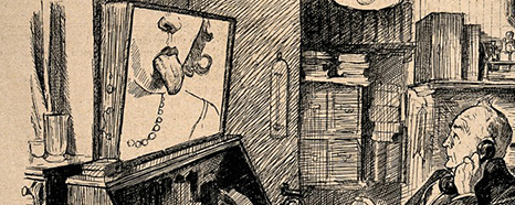 A doctor on the telephone (which is linked up to a television