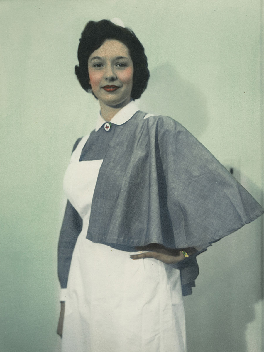 White german apron