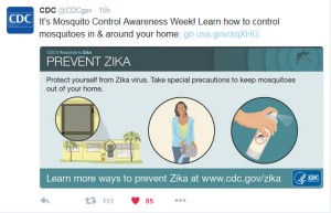 CDC: It's Mosquito Control Awareness Week! Learn how to control mosquitoes in and around your home.