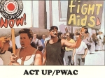 Illustration of ACT UP and PWAC activists.