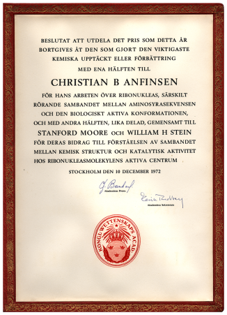 A formal document in gold embossed leather frame, in Swedish.