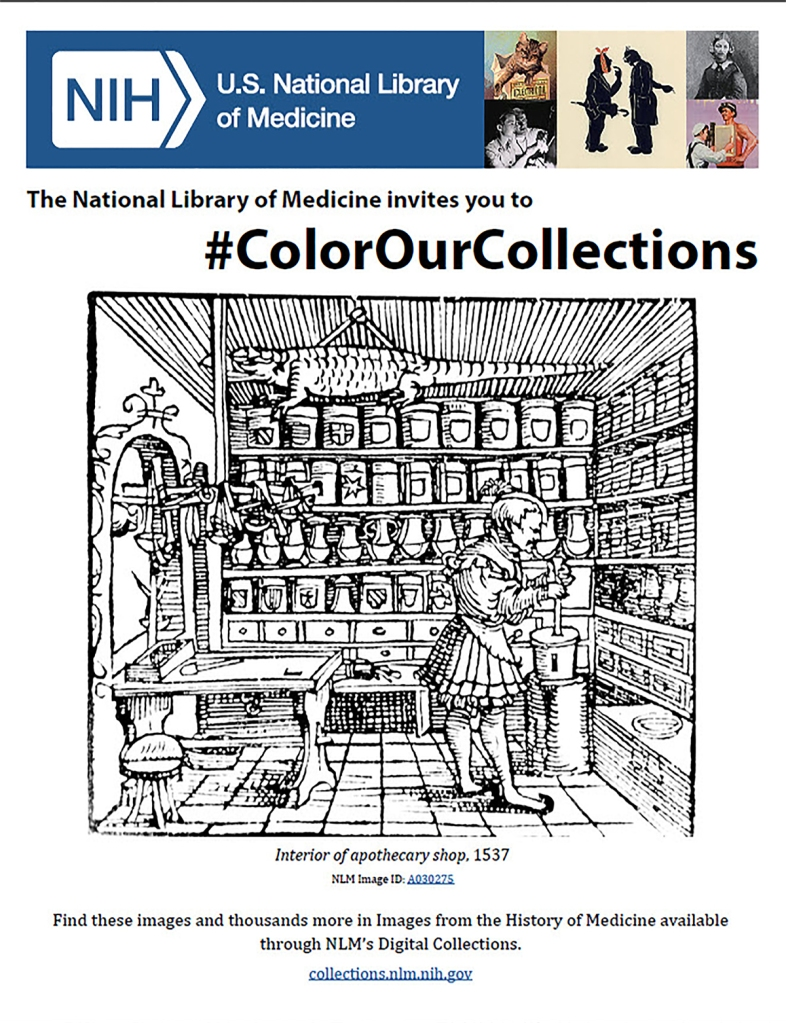 Cover of the coloring book from the National Library of Medicine