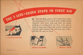 The 3 life-saving steps in first aid.