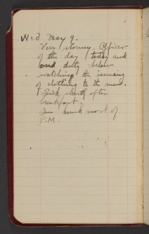 Dr. Blankenhorn diary page for May 9, 1917.