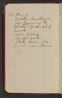 Dr. Blankenhorn diary page for May 11, 1917.