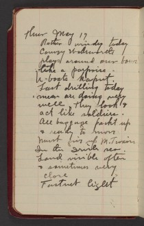 Dr. Blankenhorn diary page for May 17, 1917.