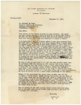 A typewritten letter discussing arrangements for negotiating with A. S. Aloe Company to manufacture a blood transfusion device.