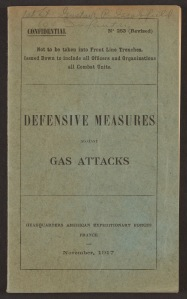 """Cover page of """"Defensive Measures Against Gas Attacks"""""""