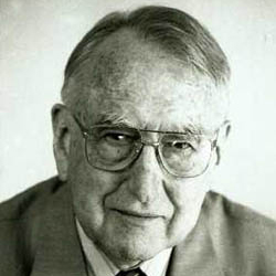 Portrait photograph of John Money.