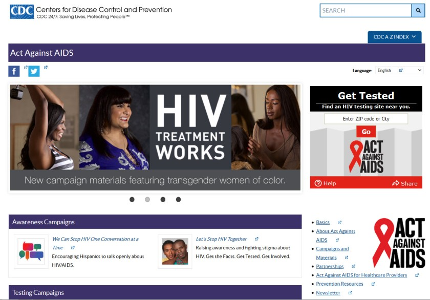 CDC's HIV Treatment Works campaign website
