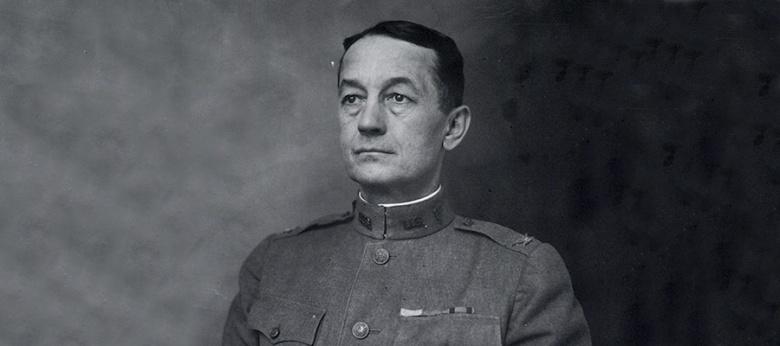 Portrait of Paul Frederick Straub in uniform.