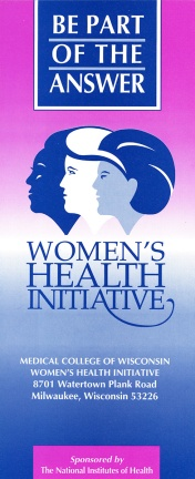 Brochure advertising a study at the Medical College of Wisconsin which was participating in the Women's Health Initiative. MS C 624, box 9