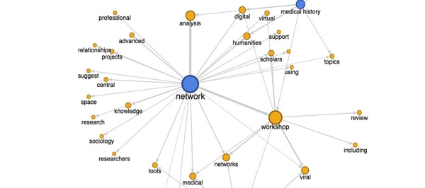 A diagram of a network representing the Viral Networks Workshop.