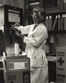 Laboratory Technician Handles Human Blood Sample